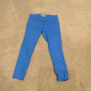 Bright Blue rockstar Jeans